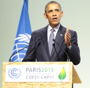 Barack Obama stressed that this is the time for everyone to come together to save the planet.