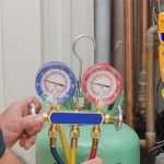 Working pressures of refrigerant gases in commercial systems